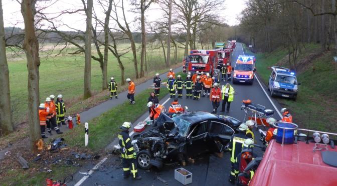 Verkehrsunfall auf der Bundestraße 4 bei Grünhagen