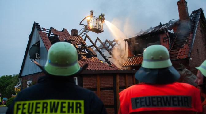 Dachstuhlbrand in Bohlsen