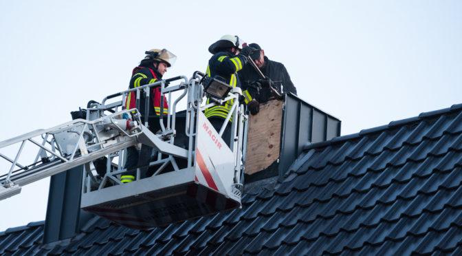 Aufmerksamer Nachbar bemerkte Schornsteinbrand