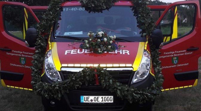Ein Stück mehr Sicherheit – Neues Tragkraftspritzenfahrzeug für Oetzendorfer Feuerwehr