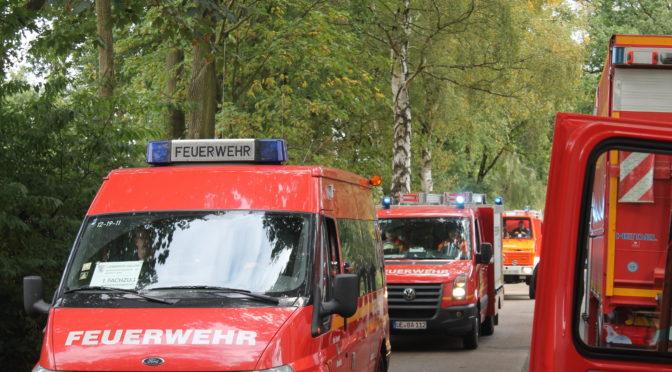 Großübung der Kreisfeuerwehrbereitschaft Nord in Hösseringen