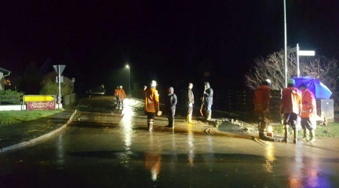Starkregen erfordert Eingreifen der Barumer Ortswehr