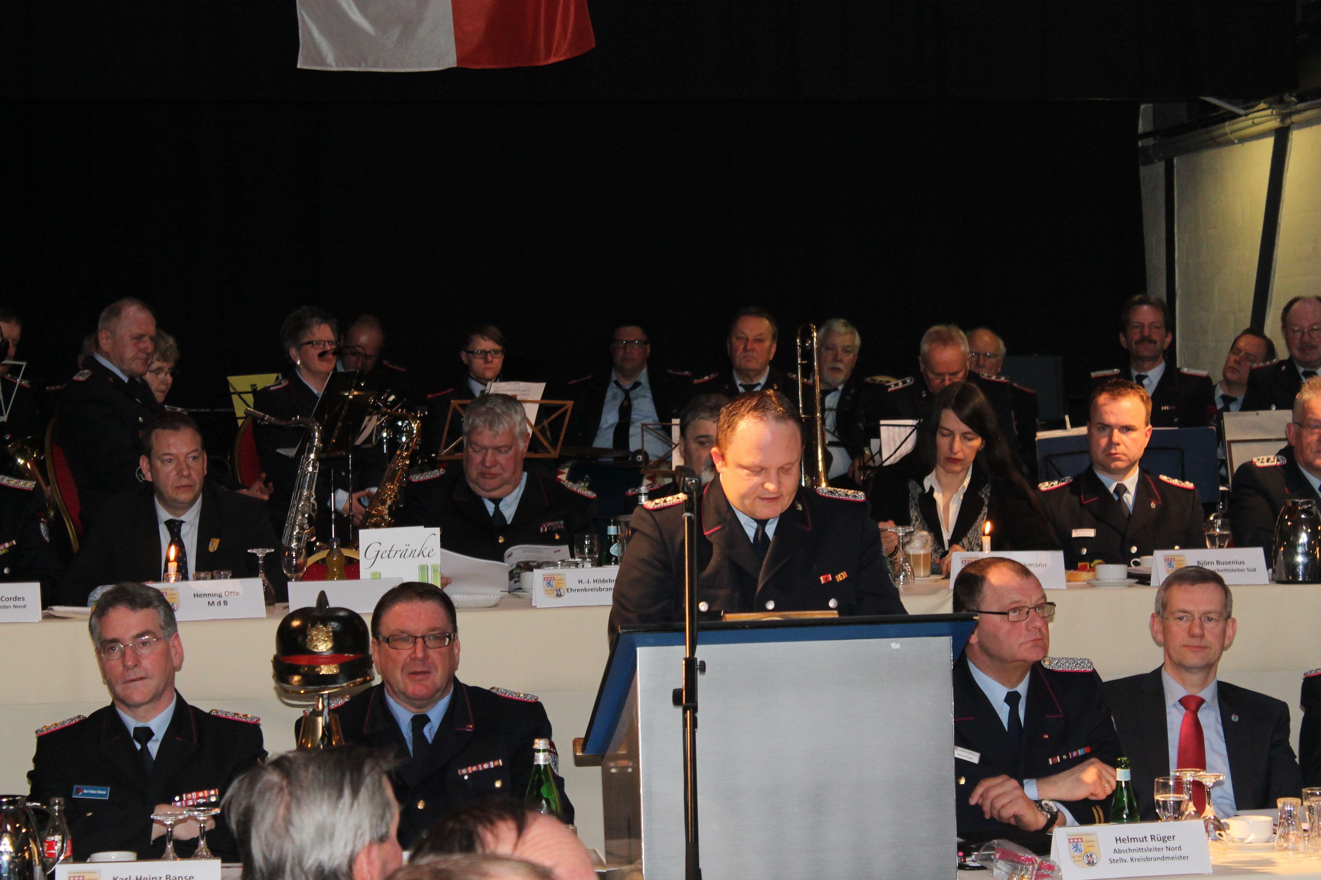 Delegierte des Kreisfeuerwehrverbandes trafen sich zur Jahresversammlung