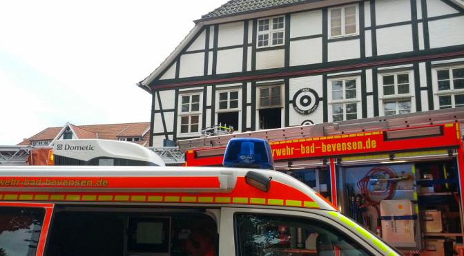 Brandeinsatz in Bevenser Innenstadt