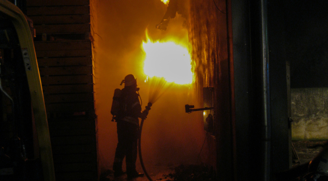Scheunenbrand in Altenebstorf