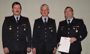 (v.l.n.r.) Helmut Heuer Jungemann, Klaus Niebuhr, Manfred Zaiser