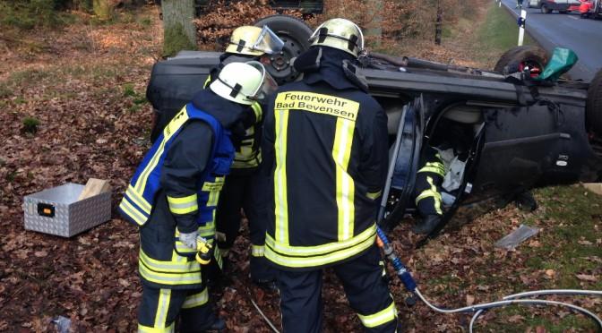 Schwerer Verkehrsunfall zwischen Himbergen und Hohenfier