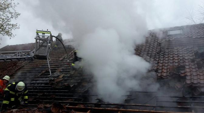 Großfeuer in Eddelsdorf  – Brand einer Tischlerei