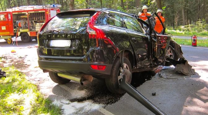 Verkehrsunfall auf der B191 bei Breitenhees