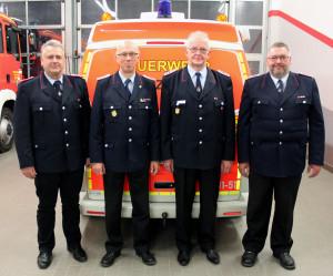 v.l. Thomas Pelchen, Wilhelm Ripke, Rüdiger Ehrck, Ulrich Bohl