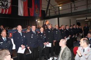 Alle neu ernannten Führungskräfte der Kreisfeuerwehr.