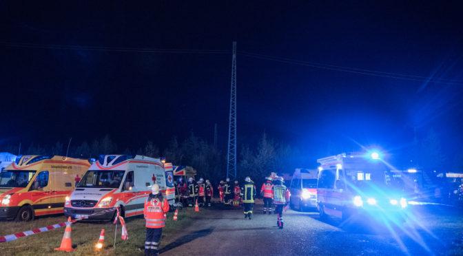 Großangelegte Übung von DRK, Feuerwehr und THW