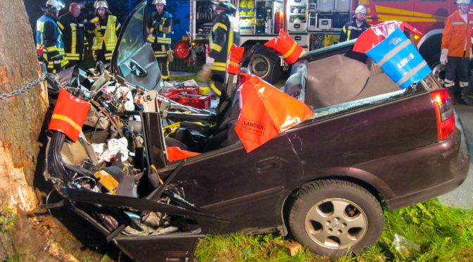 Fahrzeugführer war in der Nacht in Ebstorf mit einem Baum kollidiert