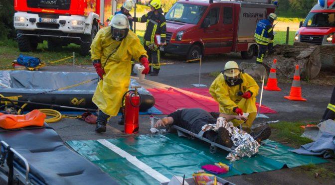 Großübung nach Gefahrgutunfall