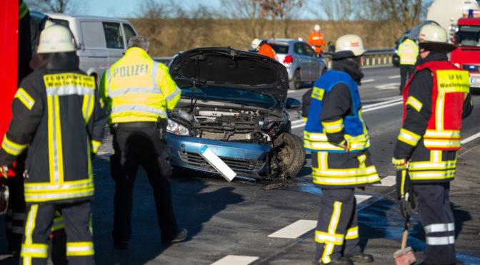 Verkehrsunfall auf der Bundestraße 4