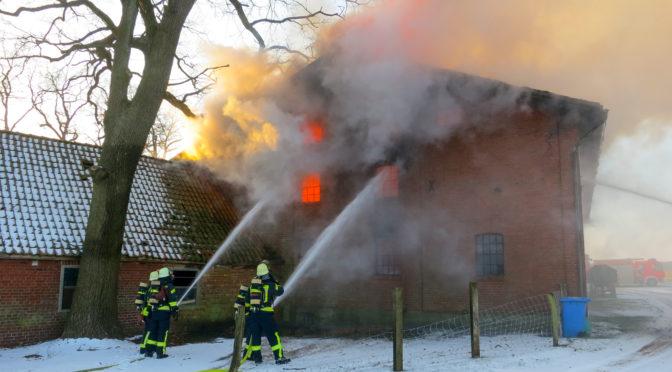 Scheunenbrand in Altenmedingen