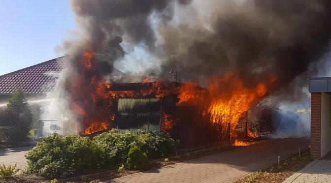 Garagenbrand in Altenmedingen