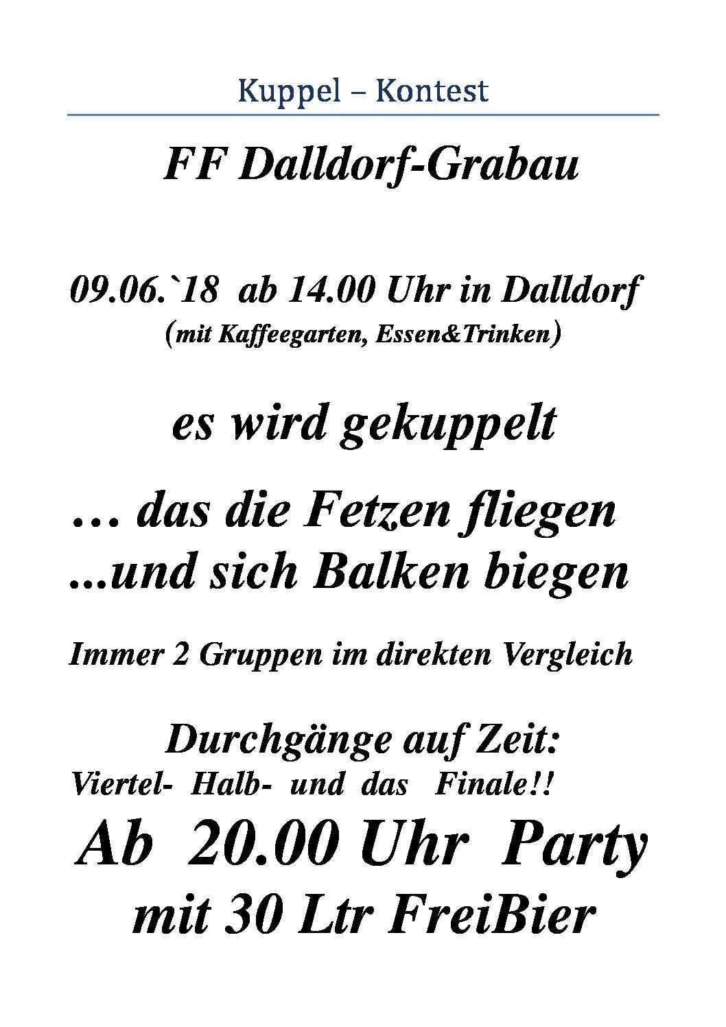 Kuppel-Kontest der FF Dalldorf-Grabau