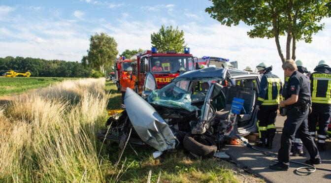 Verkehrsunfall auf der Kreisstraße 31 zwischen Höver und Karlsgrün