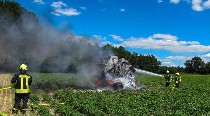 Stoppelfeldbrand zwischen Barnsen und Melzingen verhindert