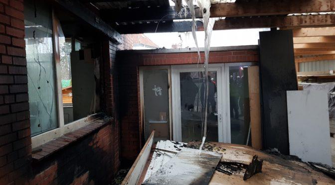 Feuer in einer Tischlerei in Bienenbüttel