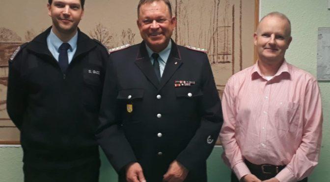 Henning Räthke mit überwältigender Mehrheit zum Gemeindebrandmeister wiedergewählt.