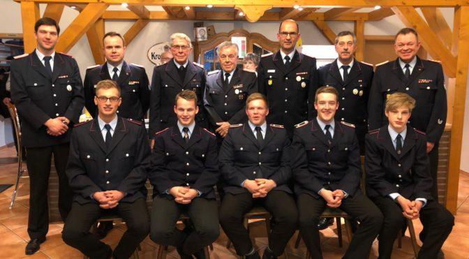 117. Jahreshauptversammlung, FF Oetzen präsentiert 6 neue Mitglieder