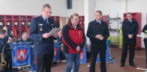 40 Jahre Mitgliedschaft in der Freiwilligen Feuerwehr: Wolfgang Fischer