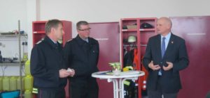 Feuerwehrführung mit Bürgermeister Weichsel