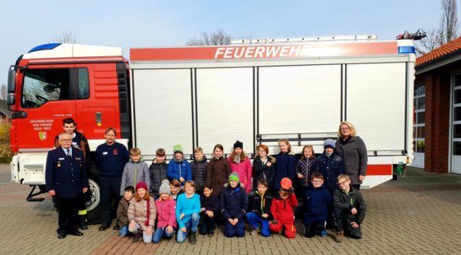 Brandschutzerziehung in der Grundschule Rosche