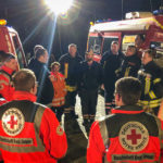 DRK Bereitschaften und Feuerwehr üben zusammen