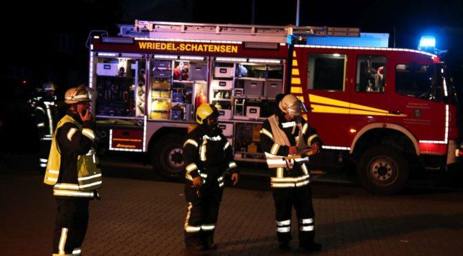 Feuerwehren üben im NP-Markt in Wriedel