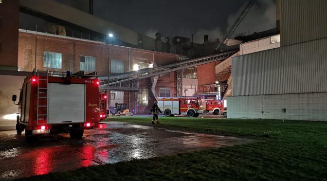 Rauchentwicklung im Elevatorturm am Pelletsilo in Uelzen