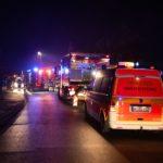 Feuerwehr und Rettungsdienst am Neujahrsmorgen in Römstedt im Einsatz