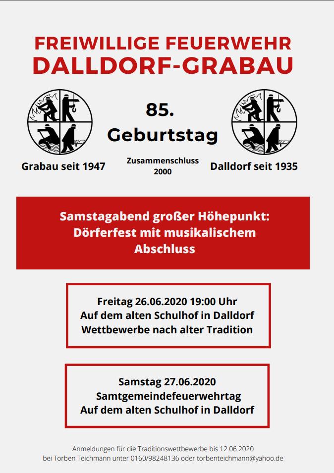 Traditionswettbewerbe auf dem alten Schulhof in Dalldorf (neben dem Feuerwehrhaus)