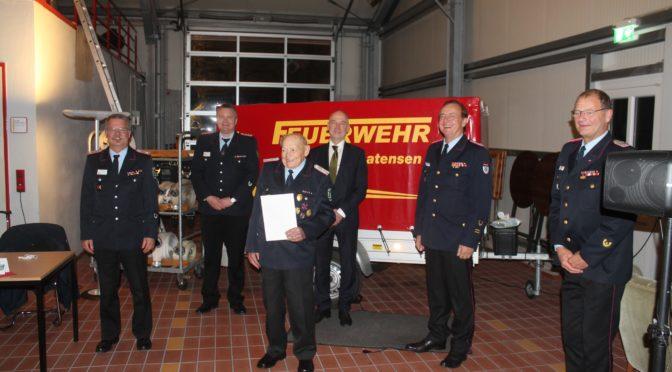 Werner Gade – 80 Jahre in der Feuerwehr