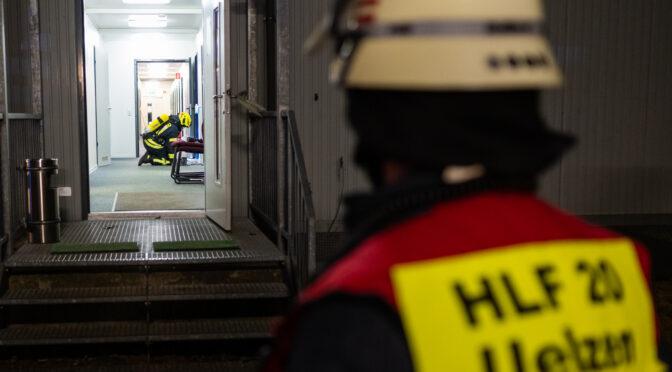 Großangelegter Einsatz von DRK und Feuerwehr bei der Bundespolizei
