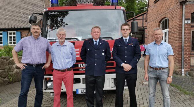 Ortsbrandmeisterwahl der Feuerwehr Oldenstadt